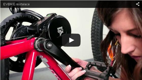 Elektrifikace jízdního kola středovým pohonem EV Bike Power Kit (8Fun Bafang)