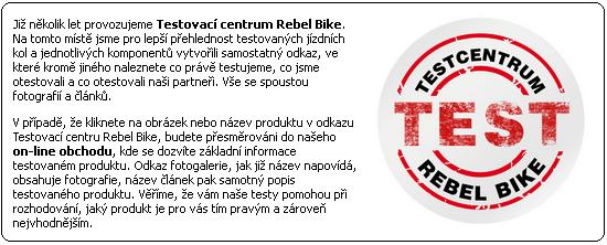 Testovací centrum Rebel Bike